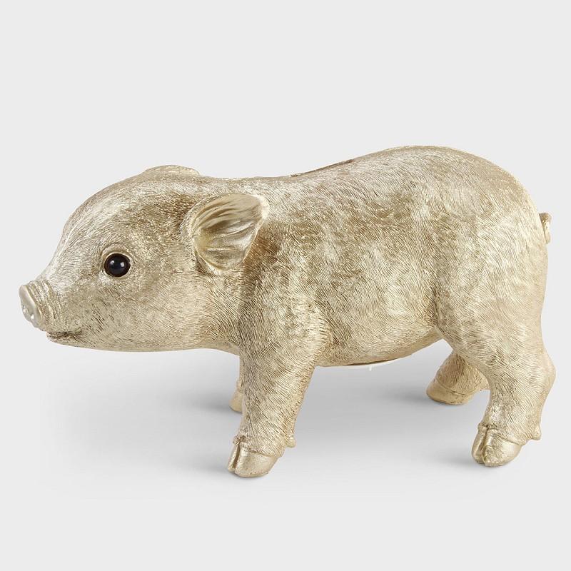 Gold Piggy Money Box