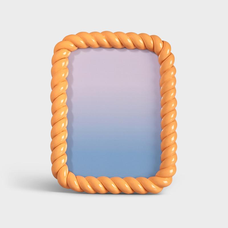 Rectangle Braid Photo Frame/Peach