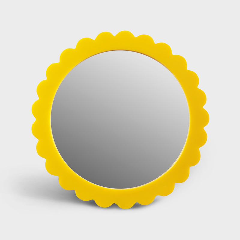 Yellow Bloom Mirror
