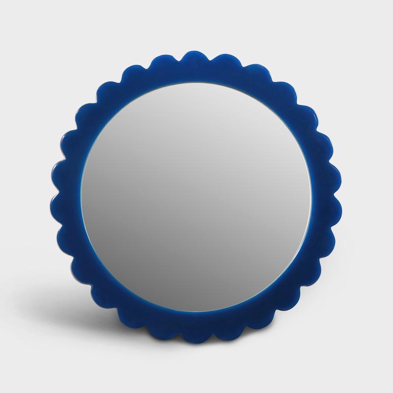 Blue Bloom Mirror