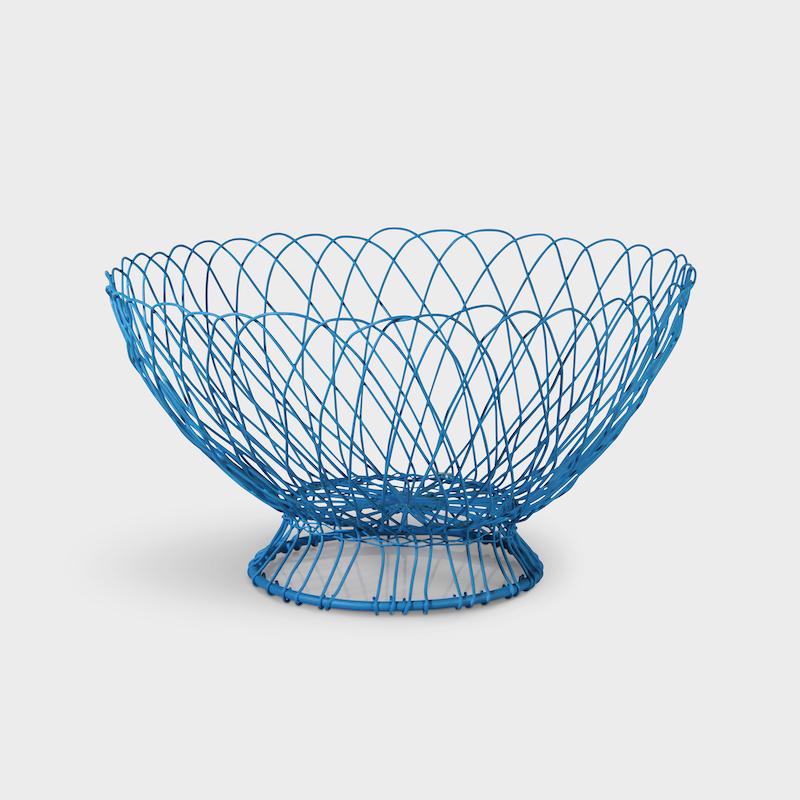 Blue Twist Wire Basket