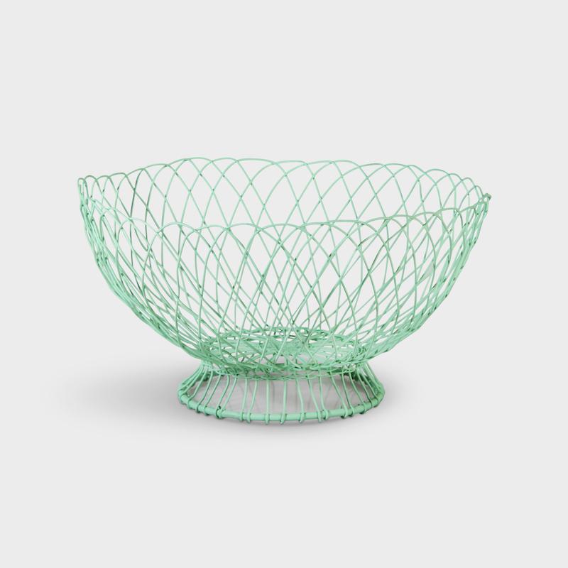 Mint Twist Wire Basket