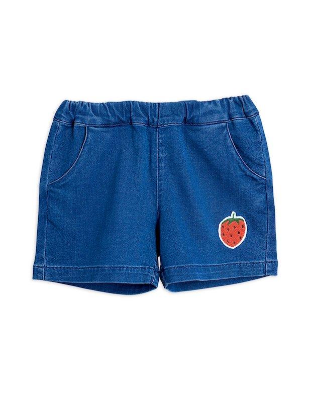 Denim Strawberry Shorts