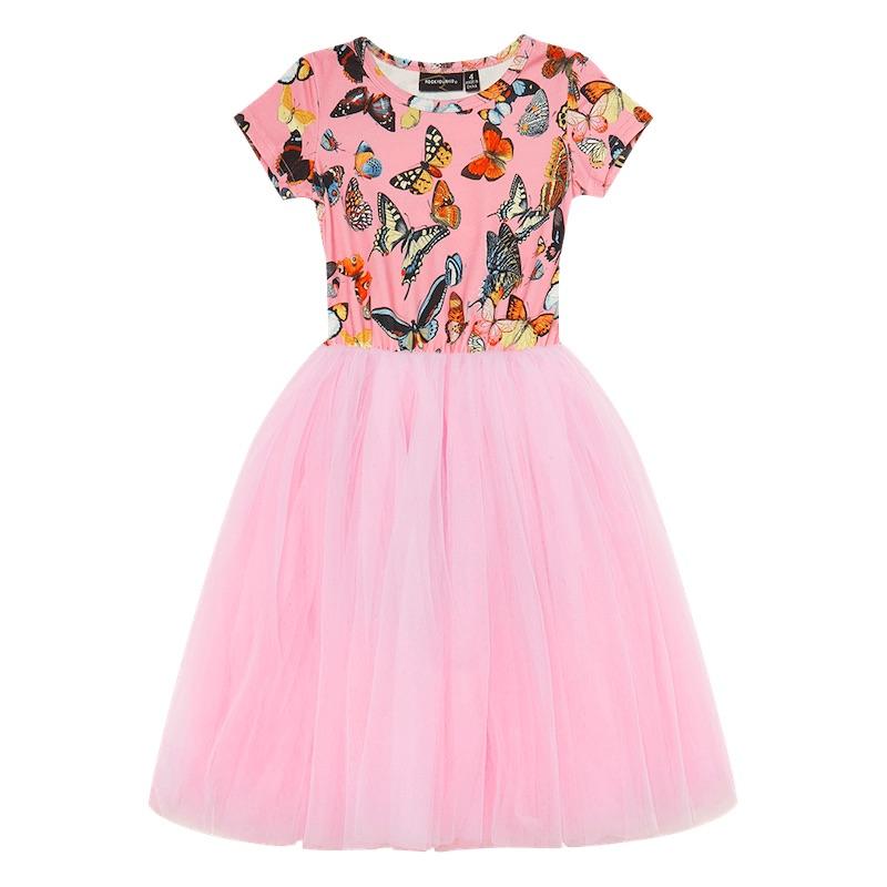 Butterflies Flounce Dress