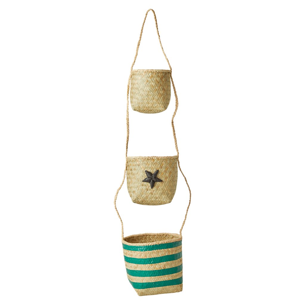 Hanging Seagrass Baskets/Green