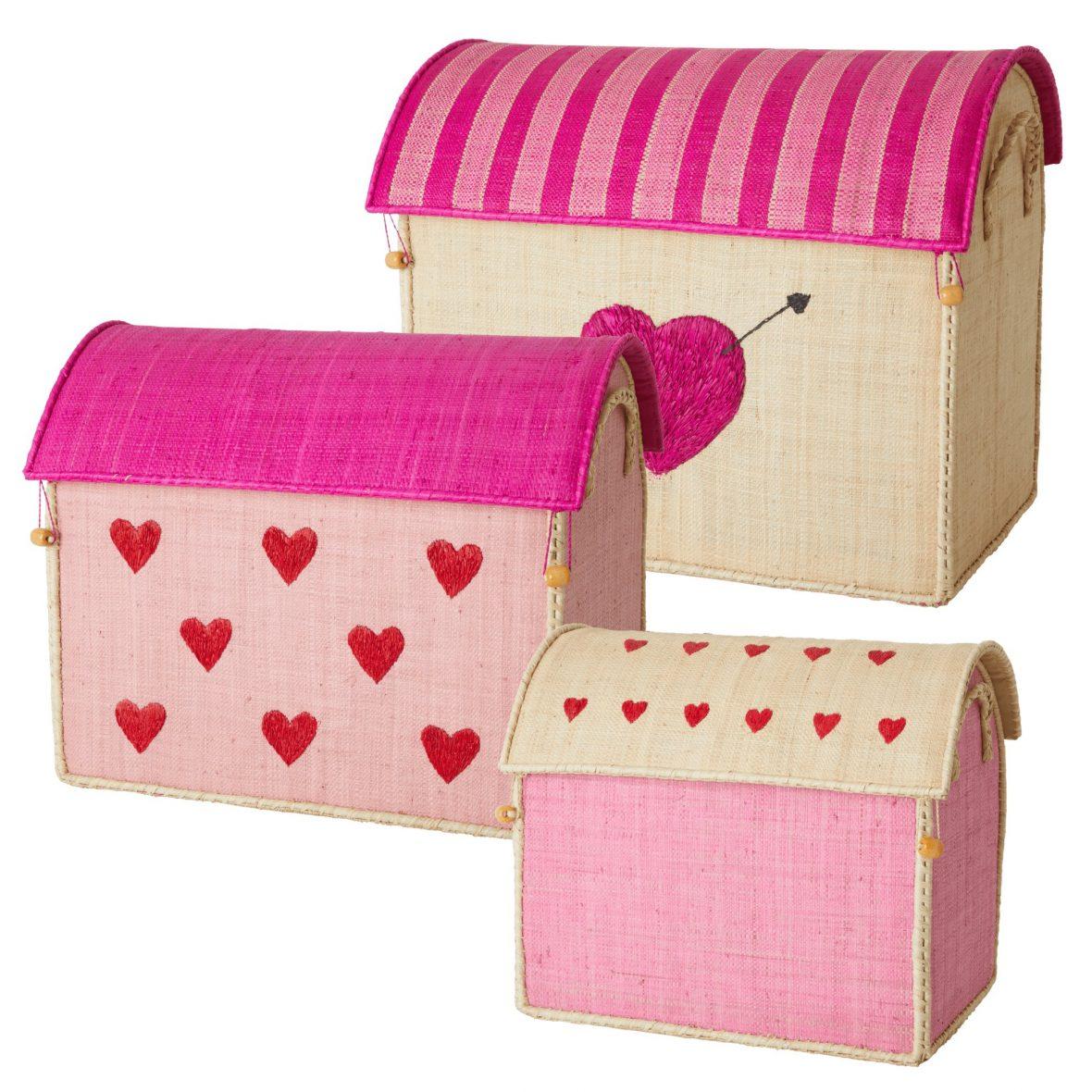 Raffia Storage Boxes/Set of 3