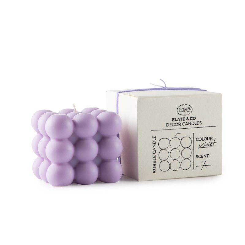 Bubble Candle/Lilac
